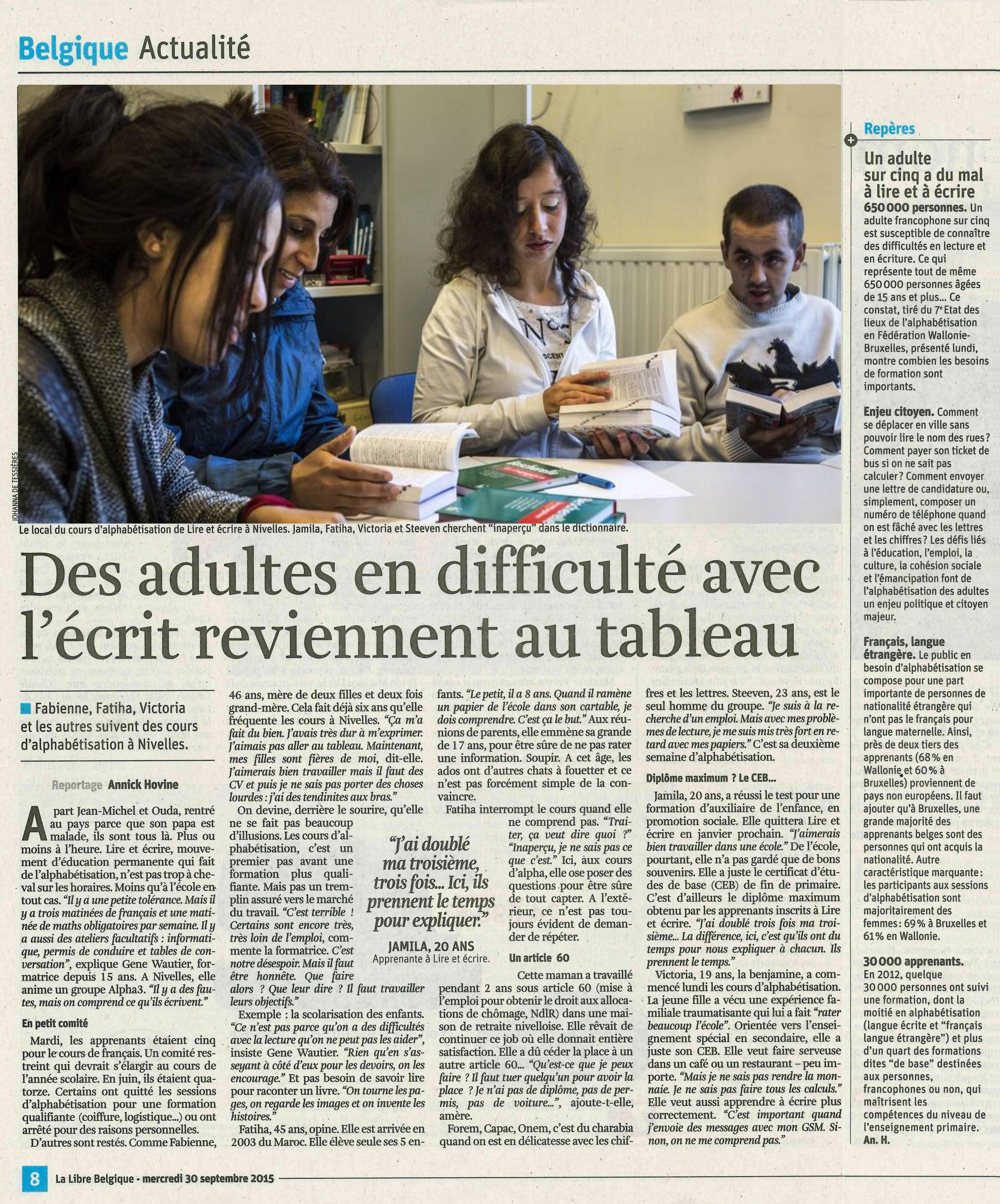 Formation en alternance pour adultes belgique