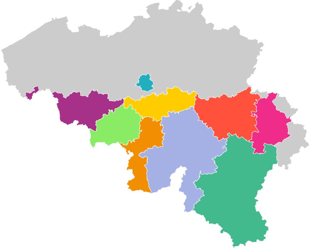 Carte régionales